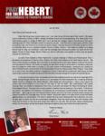 Brian Hebert Prayer Letter:  New Territory Traveled