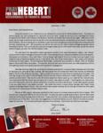Brian Hebert Prayer Letter:  A Cajun Goes Home