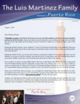 Luis Martinez Prayer Letter:  17 Years on the Field of Puerto Rico