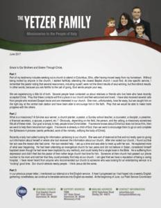 Chris Yetzer Prayer Letter: Adding and Edifying