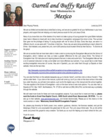 Darrell Ratcliff Prayer Letter:  The Manual and School of Evangelism Are Now Available!