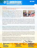 Oral Anderson Prayer Letter:  Vacation Bible School