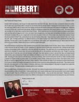 Brian Hebert Prayer Letter: Getting Into the Trenches