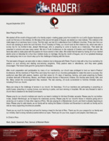 Mark Rader Prayer Letter: Our Church's First Missions Trip