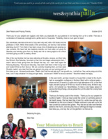 Wes Palla Prayer Letter:  Having Ourselves a Time!
