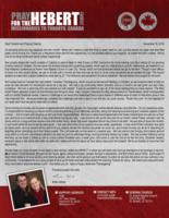 Brian Hebert Prayer Letter: New Ventures