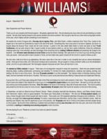 Chris Williams Prayer Letter:  Teaching and Training