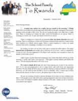 Gregg Schoof Prayer Letter:  Joy Comes in the Morning!