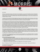 Peter Morris Prayer Letter:  Success Out West