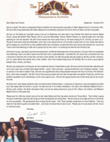Ron Back Prayer Letter:  First Father-Son Outing