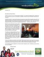 Wes Palla Prayer Letter:  Building New Families