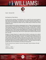 Chris Williams Prayer Letter:  Highways and Hedges