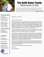 Keith Baker Prayer Letter:  Graduation
