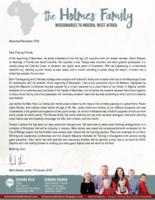 Mark Holmes Prayer Letter: Productive Furlough
