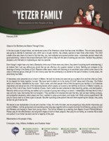 Christopher Yetzer Prayer Letter:  Better Than a Cup of Coffee