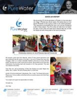 John Hays Prayer Letter:  His Water Boy