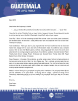 Angel Lopez Prayer Letter:  Pray Ye Therefore the Lord of the Harvest