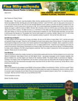Fisa Mihy-mihyndu Prayer Letter:  A Message From Hell