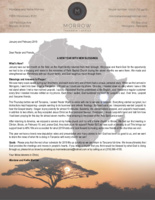 Montana Morrow Prayer Letter:  A New Year With New Blessings!