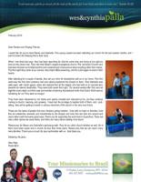Wes Palla Prayer Letter: Meet Renan and Gabriella