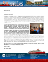 Andrew Steers Prayer Letter:  Thankful for Outreach Opportunity