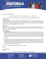 Angel Lopez Prayer Letter: For in Due Season We Shall Reap