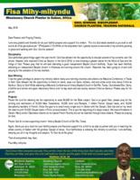 Fisa Mihy-mihyndu Prayer Letter:  Great News!