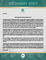 Missionary #6501 Prayer Letter:  Summer Surge, Summer Slump, Summer Service