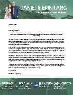 Daniel Lang Prayer Letter: Completely Satisfied!