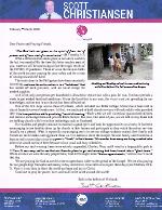 Scott Christiansen Prayer Letter: Restricted but Resolved