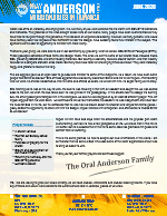 Oral Anderson Prayer Letter: Indifference Changes to Interest Because of COVID-19