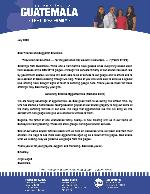 Angel Lopez Prayer Letter:  Adversity Creates Opportunities