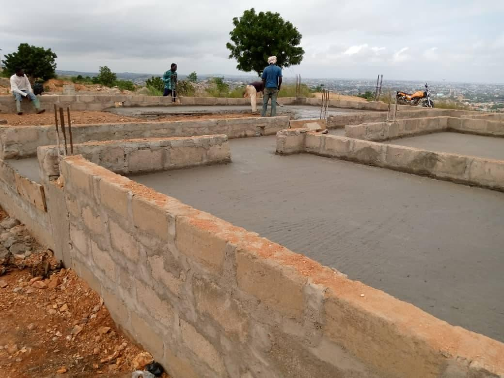 start of church building