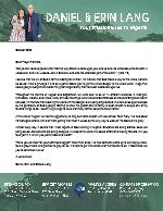 Daniel Lang Prayer Letter: Moving Forward