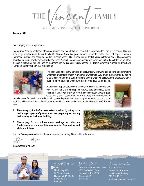 thumbnail of Ian Vinent January 2021 Prayer Letter