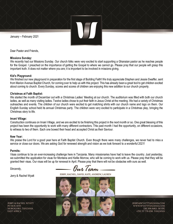 thumbnail of Jerry Wyatt III Jan-Feb 2021 Prayer Letter – 2