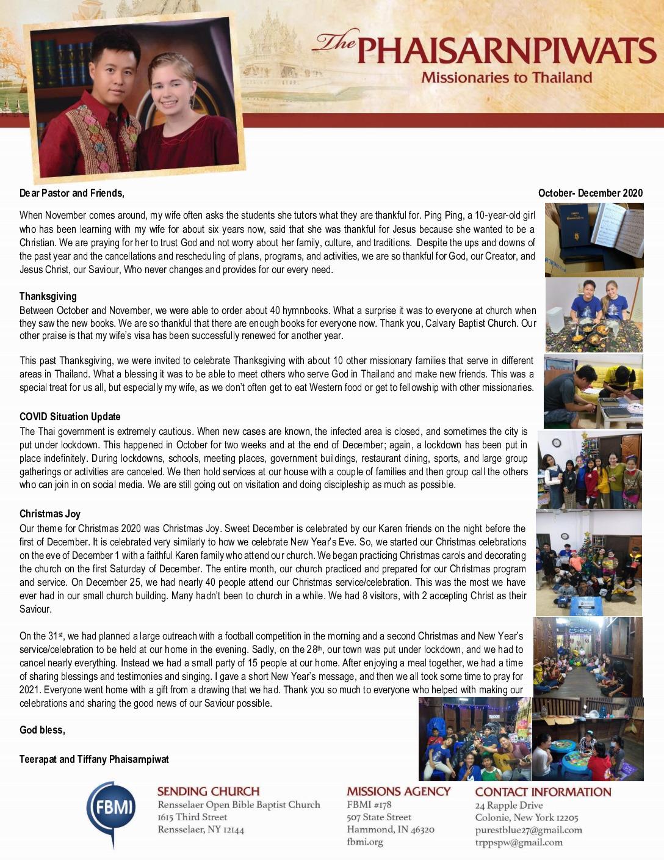 thumbnail of Teerapat Phaisarnpiwat Oct-Dec 2020 Prayer Letter – Final
