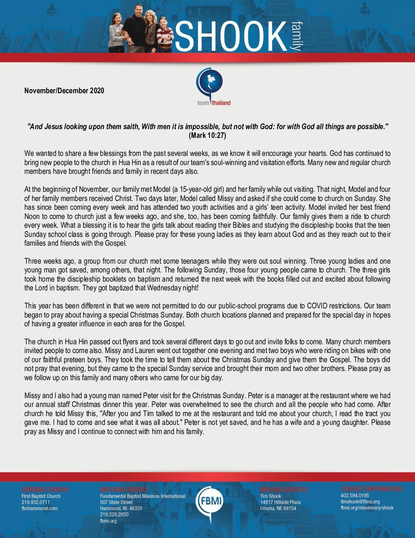 thumbnail of Tim Shook Nov-Dec 2020 Prayer Letter – Revised
