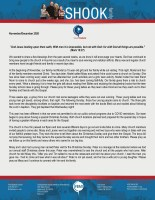 Tim Shook Prayer Letter: With God, All Things Are Possible!