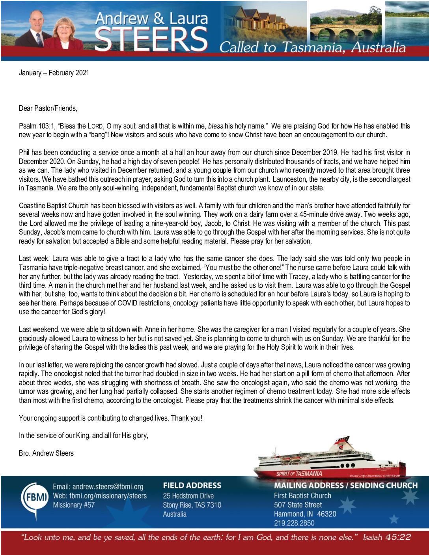 thumbnail of Andrew Steers Jan-Feb 2021 Prayer Letter – Revised