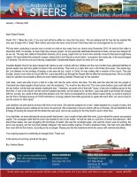 """Andrew Steers Prayer Letter: Beginning the New Year with a """"Bang""""!"""