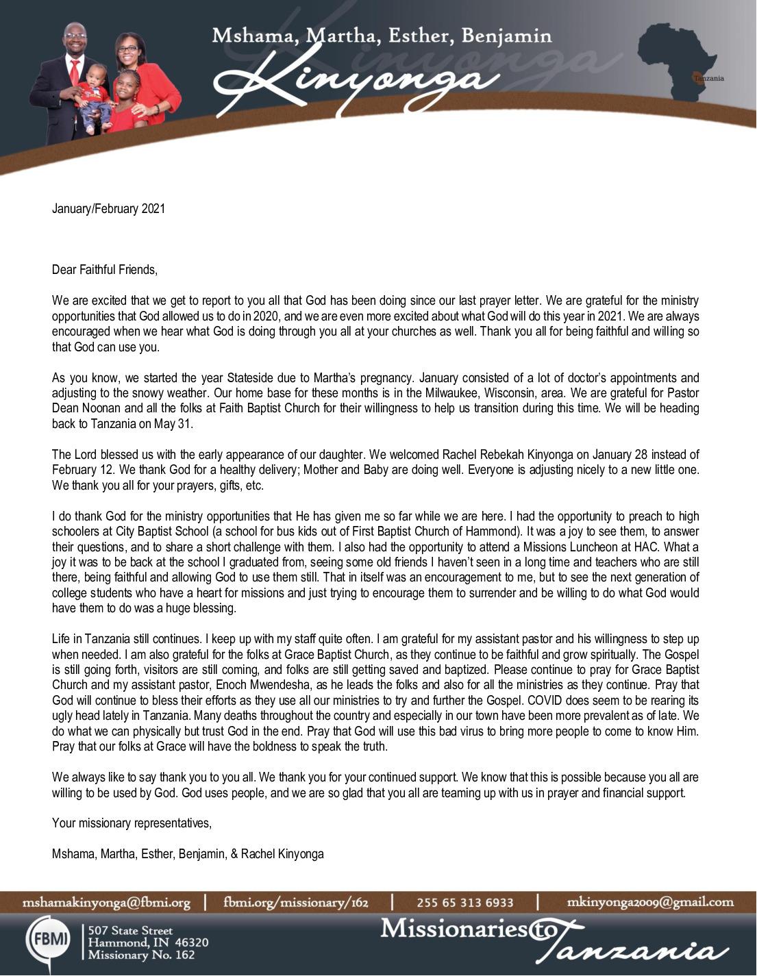thumbnail of Mshama Kinyonga Jan-Feb 2021 Prayer Letter