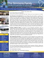 Tim Simmons Prayer Letter: Uruguay COVID News