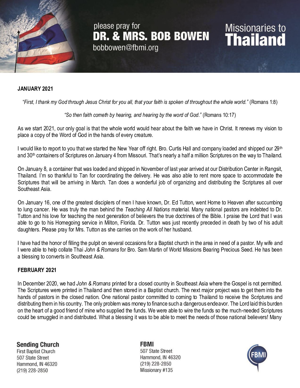 thumbnail of Bob Bowen Jan-Feb 2021 Prayer Letter – Revised