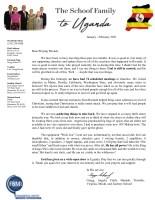 Gregg Schoof Prayer Letter: End of Furlough