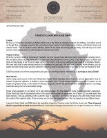 Montana Morrow Prayer Letter: There's Still Hope With Jesus Christ!