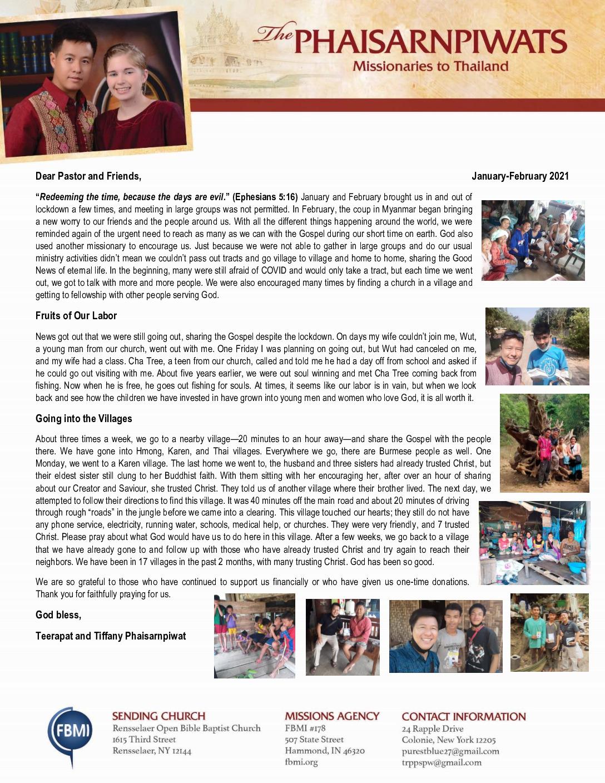 thumbnail of Teerapat Phaisranpiwat Jan-Feb 2021 Prayer Letter – 2