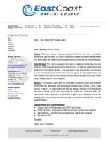 Jon Wrightson Prayer Letter: New Meeting Place