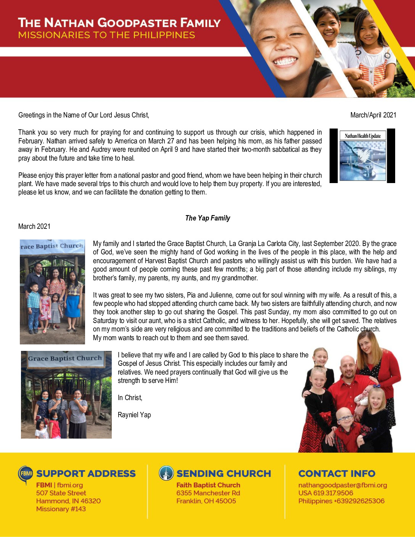 thumbnail of Nathan Goodpaster Mar-Apr 2021 Prayer Letter