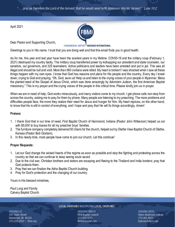 thumbnail of Paul Lung April 2021 Prayer Letter